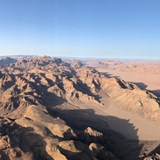 Hot air balloon ride over Wadi Rum