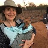 Cuddling a Baby Kangaroo in Alice Springs
