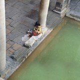 Lady at the Roman Baths