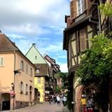 An Alsatian village near the Rhine River.