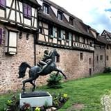 Riquewehr, France near the Rhine River