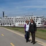 Sharry & Debbie in front of American Queen