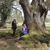 Debbie & Sharry under very old Oak tree
