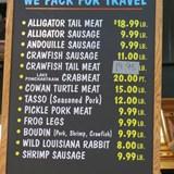 Seafood menu French Quarter
