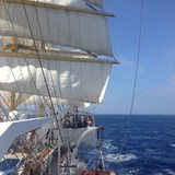 Under sail on a tall ship cruise