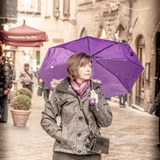 Rainy afternoon in Volterra, Italy