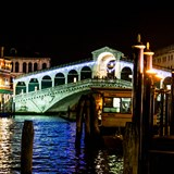 Rialto Bridge at Night, Venice