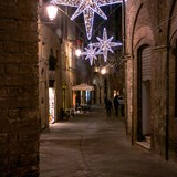 Siena street at Christmas, Siena Italy