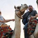 Riding Camels in Eqypt