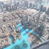 View of the fountains from Burj Khalifa