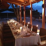 Table Set for a Group Dinner
