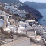 View from Fira in Santorini
