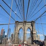 Walking The Brooklyn Bridge During The Day