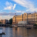 The Amstel Hotel on the canals in Amsterdam