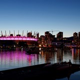 Twilight hour on the waters of Vancouver