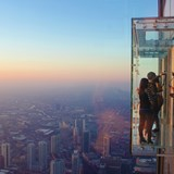 Overlooking Chicago from the Willis Tower
