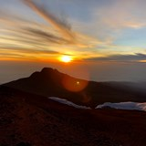 Gorgeous Sun rise on the top of Kili