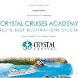 Crystal Cruises: World's Best Destination Speciali