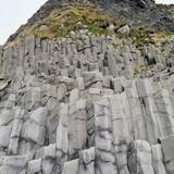 Basalt Rock Columns at black beach - near Vik