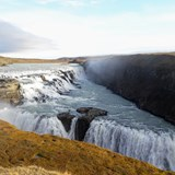 Gullfoss waterfall -- largest in the country
