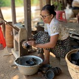 Lacquerware production, Bagan, Myanmar