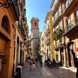 A pedestrian street in Valencia, Spain