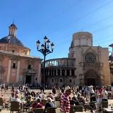 Central plaza in Valencia, Spain