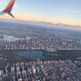 Central Park from the air.