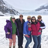 Colombia Icefield on Anthabasca Glacier