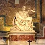 Michelangelo's Pieta in St. Peter's, Rome, Italy