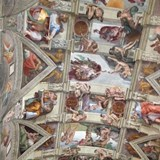 The Ceiling of the Sistine Chapel, Rome, Italy