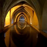 Interior pool at the Alcazar, Seville, Spain