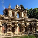 The gardens of the Alcazar, Seville, Spai