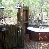 our personal outdoor shower & tub