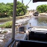 on the way to camp from the airstrip