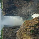 Victoria Falls during low flow