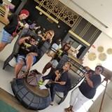 Relaxing in Riu Lobby