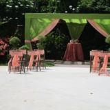 Garden ceremony set up at Memories Splash