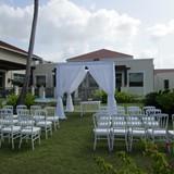 Garden wedding set up at Now Larimar