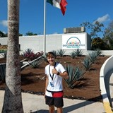 Our son, Erik - enjoys Mexico Cultural Park