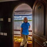 On board the Amatista, on the Amazon River