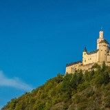 Castle on a hill overlooking the Rhine