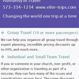 Group Travel for Humanitarian purposes