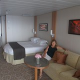 Angie Enjoying her Sky Suite on Celebrity
