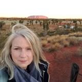 Enjoying sunrise in the heart of Australia