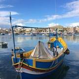 Colorful boats in Malta harbor