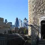 London Shard from inside Tower of London