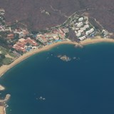 Part of Huatulco from the air upon arrival