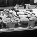 Infamous meat pies!!  In Melbourne, Australia