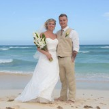Just married at the Grand Sunset Princess!